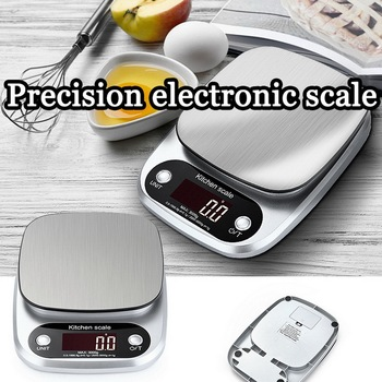 LCD Electronic Kitchen Scale Highly Multifunction Food Scale Household Balance Cooking Stainless Steel Digital Scale image