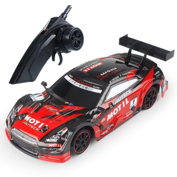цена на 1:16 4WD Drive Fast Drift Car Remote Control GTR Car 2.4G Radio Control Off-road Car RC car Drift High-speed Car Model Toys