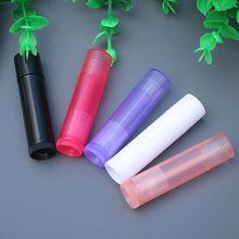 5 unids/lote de 5g, 5ml, tubo de lápiz labial, contenedores de bálsamo labial, envases cosméticos vacíos, contenedor de loción, barra de pegamento, botella de viaje transparente