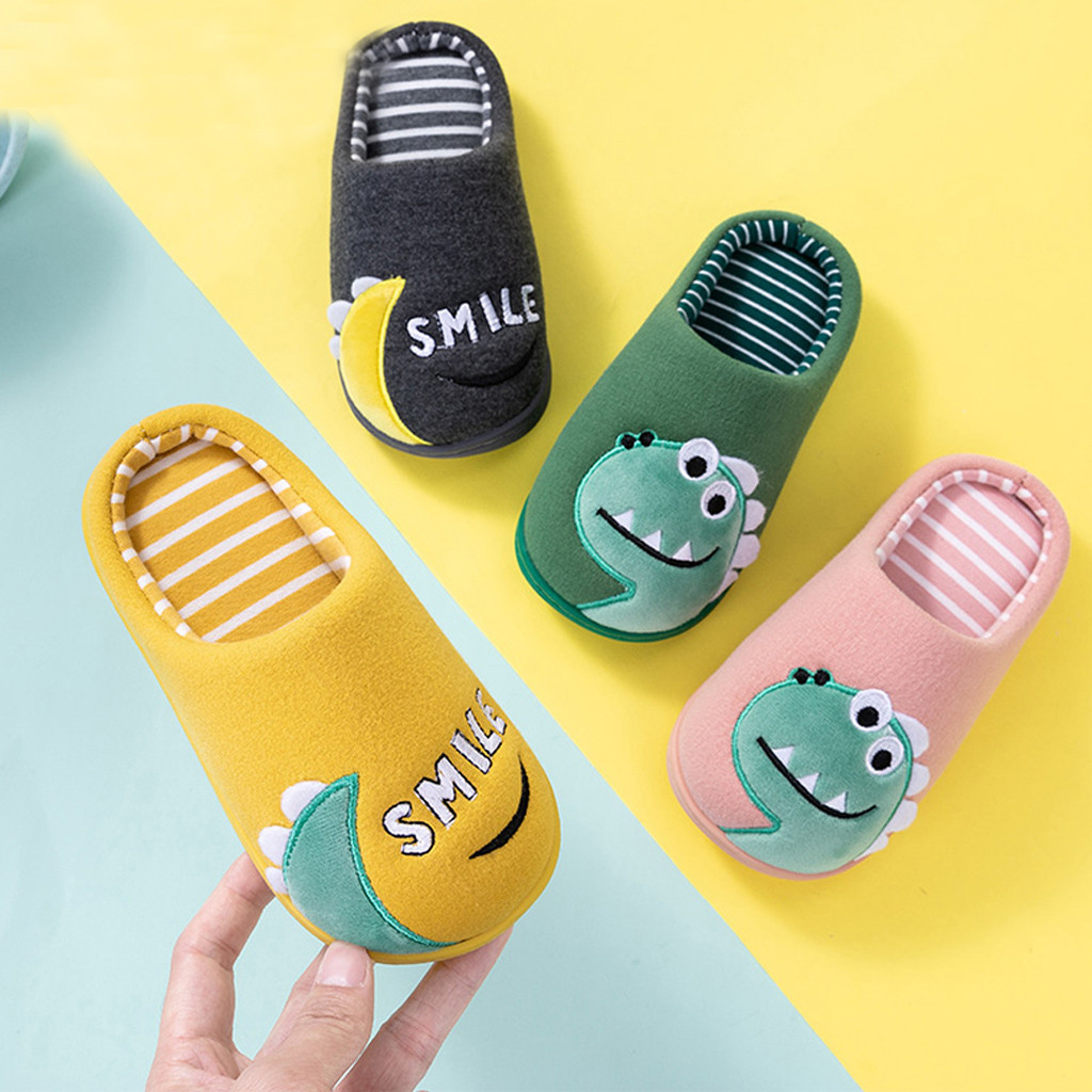 Toddler Kids Winter Slippers Baby Boys Girls Little Kid Shoes Warm Cute Animal Home Shoes Slippers Kids Hotel Zapatillas Nino