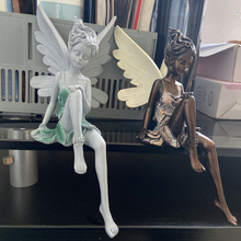 Tudor And Turek Sitting Fairy Statue Garden Ornament Resin Craft for Garden Yard