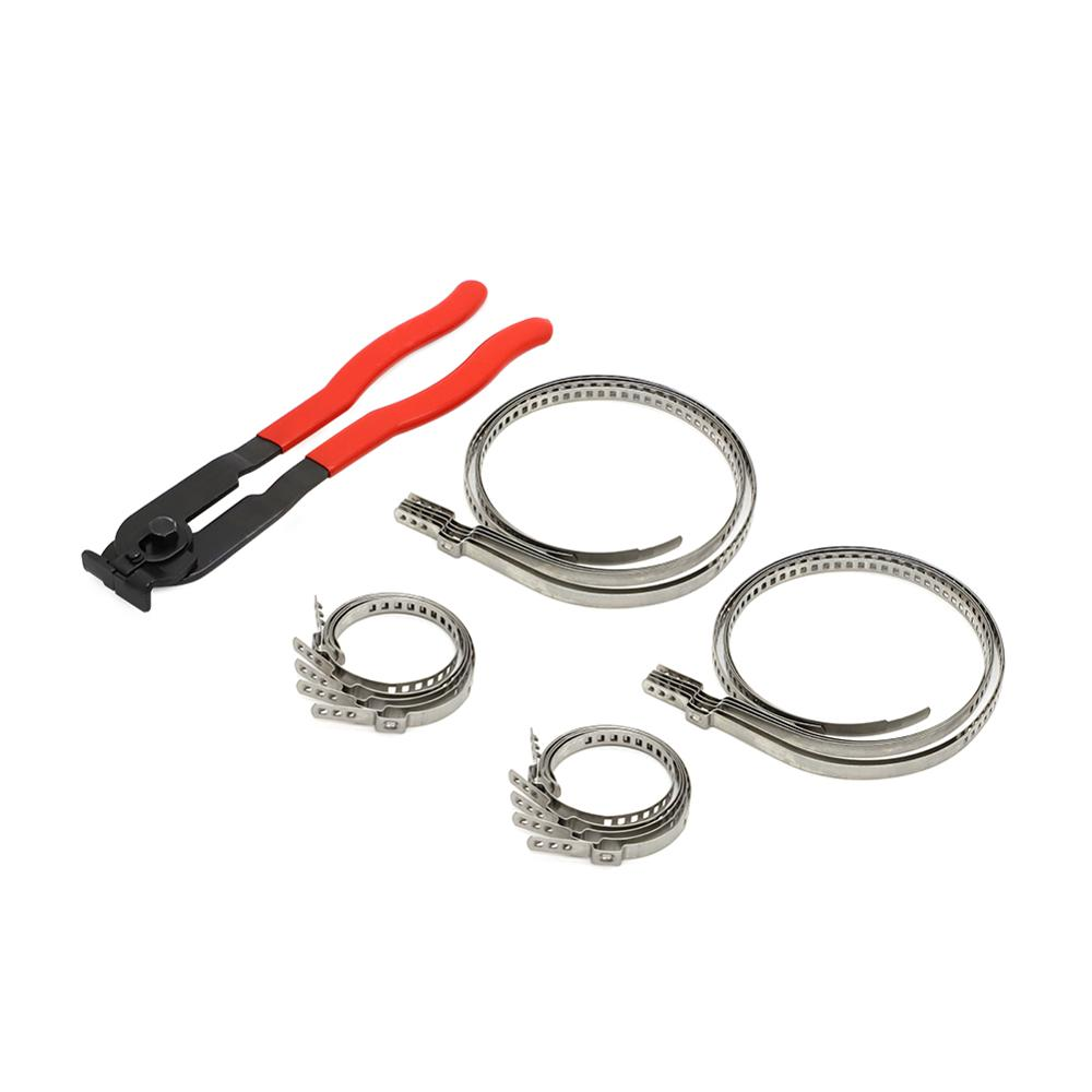 Eixo ajustável cv joint boot friso grampos com alicate ferramenta crimps universal auto atv boot grampos kit cv eixo comum
