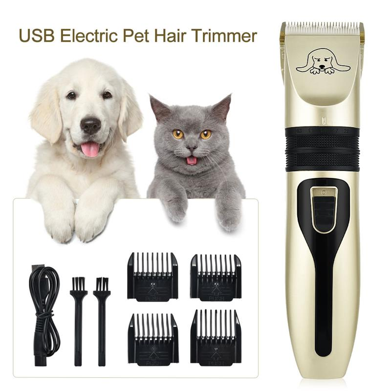 USB Electric Pet Hair Clipper Remover Professional Pet Cat Hair Trimmer Cutter Grooming Pets Haircut Machine 2