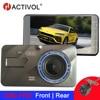 4 Inch Dash Cam Auto Dvr Camera Full Hd 1080P Rijden Video Recorder Registrator Auto Dashboard Dual Lens Dashcam zwart Dvrs Doos