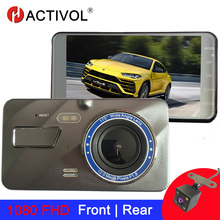 4 inch Dash Cam Car DVR Camera Full HD 1080P Drive Video Recorder Registrator Auto Dashboard Dual lens Dashcam Black DVRs Box