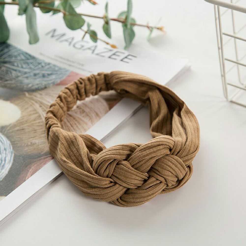Bohemian Women Elegant Top Knot Cross Headband  DIY Hairbands Hair Holder Fashion Candy Color Hair Hoop Hair Accessories