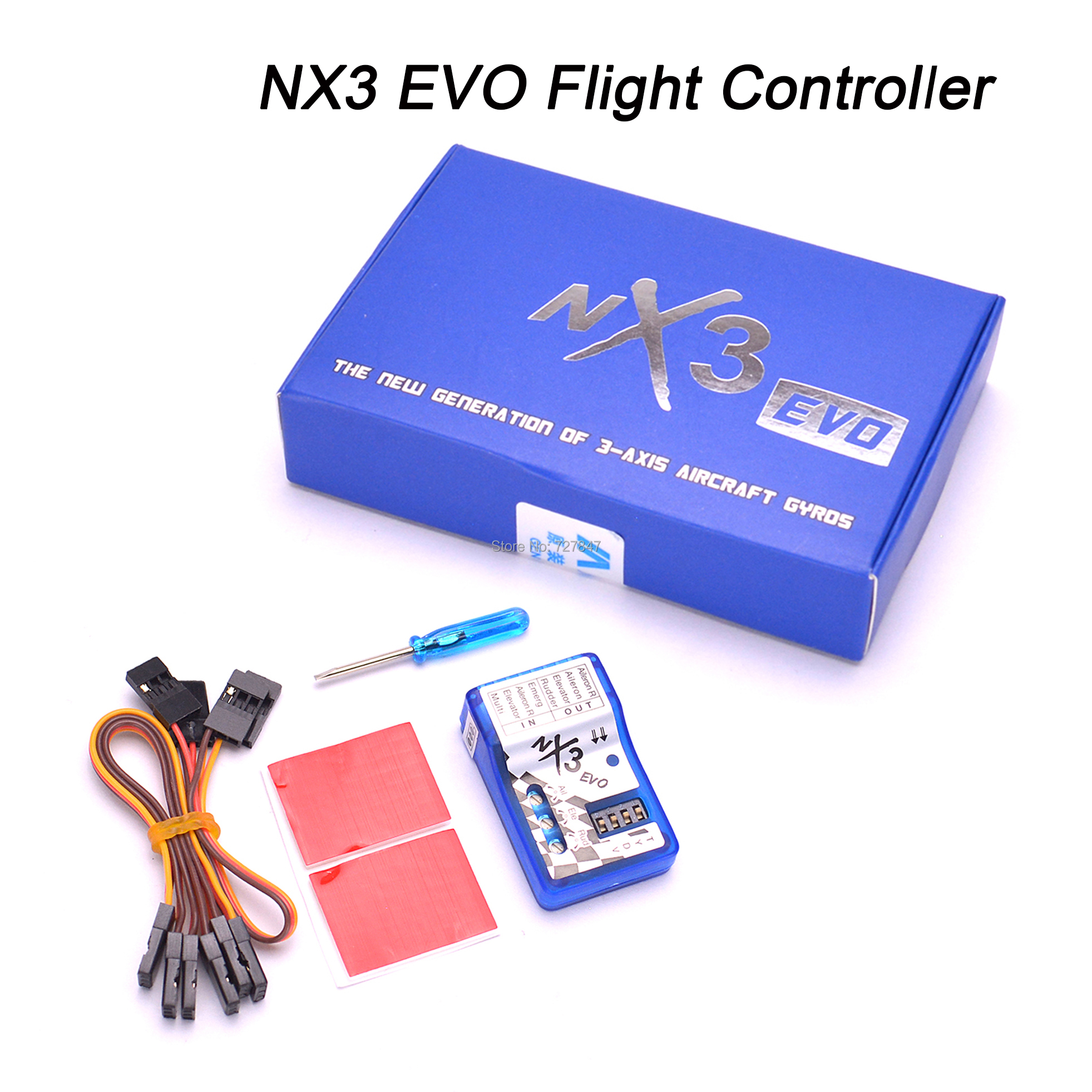 NEW NX3 / NX3 EVO Flight Controller Board Fixed-wing Flight Gyro Balancer For 2D / 3D Fixed-wing Aircraft