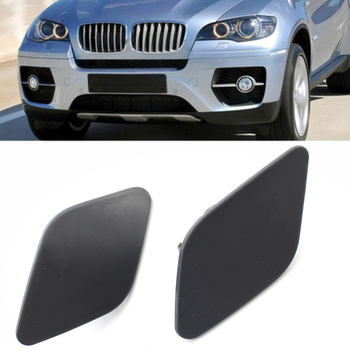 Left & Right Car Front Headlight Washer Nozzle Cover For BMW E70 E71 E72 X5 X6 2008 2009 2010 2011 2012 2013 2014 image