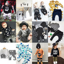 Cute 2PCS Set Newborn Baby Boy Clothes Lovely Mommys New Man Mustache Print Bodysuit Tops Long Pants Hat Outfits 0-24M