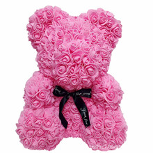 Valentine's day Christmas rose bear eternal life romantic huggerhugger give your lover a birthday present цена и фото