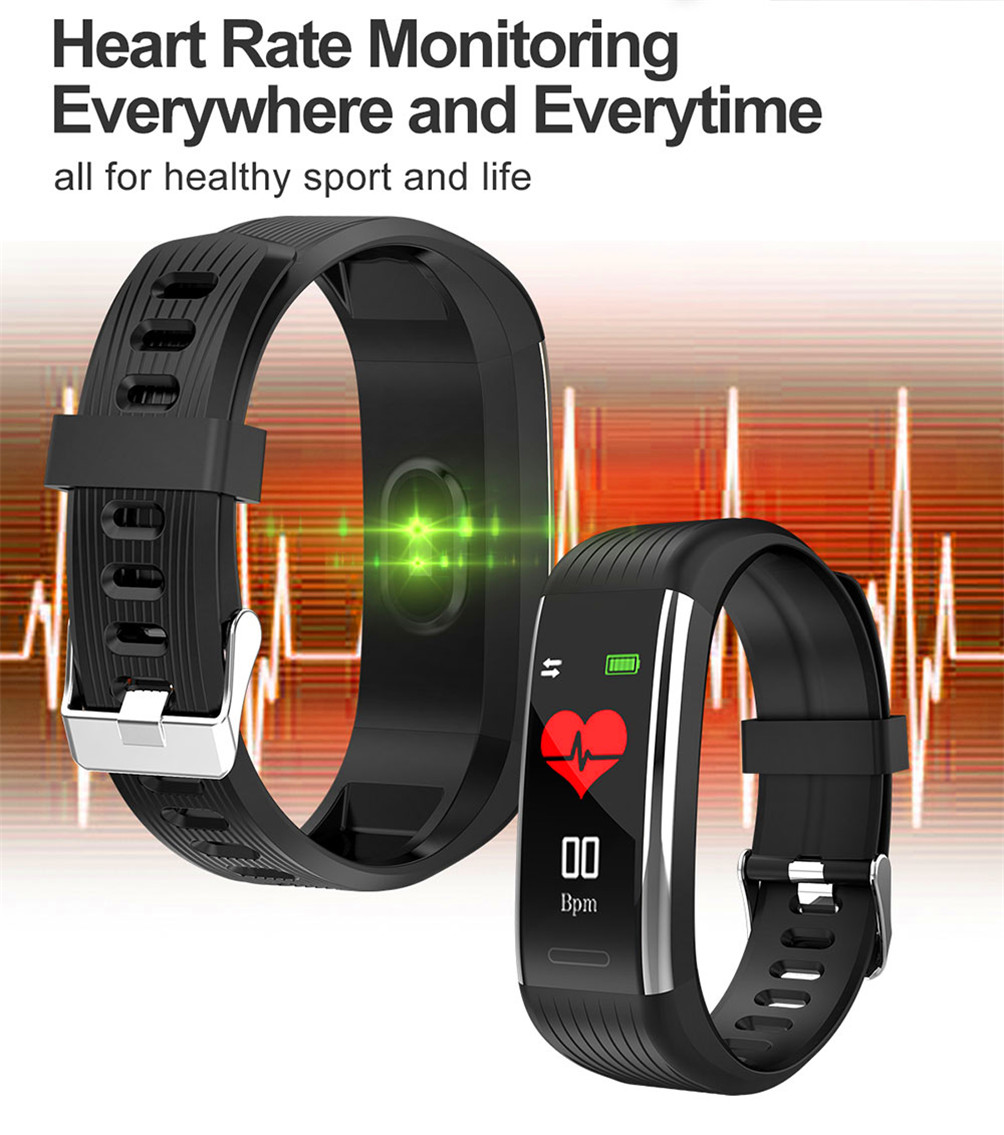 H79233ad349c440cfa2e85ee542bd9192y 2020 Smart Wristband Fitness Bracelet Blood Pressure Measurement Smart Bracelet Heart Rate Waterproof Pedometer Smart Band Watch