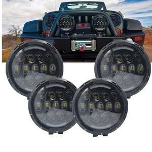 4 шт. автомобильный головной светильник s 105 Вт 7Ich Hi Low DRL светодиодный рабочий светильник для Jeep Toyota Pickup Camper трейлер автомобиль 4X4 SUV аксессуар...
