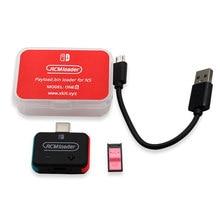 Carregador rcm + kit gabarito rcm para nintendo switch ns hbl os sx carga útil usb dongle jogos acessórios eletrônicos de consumo