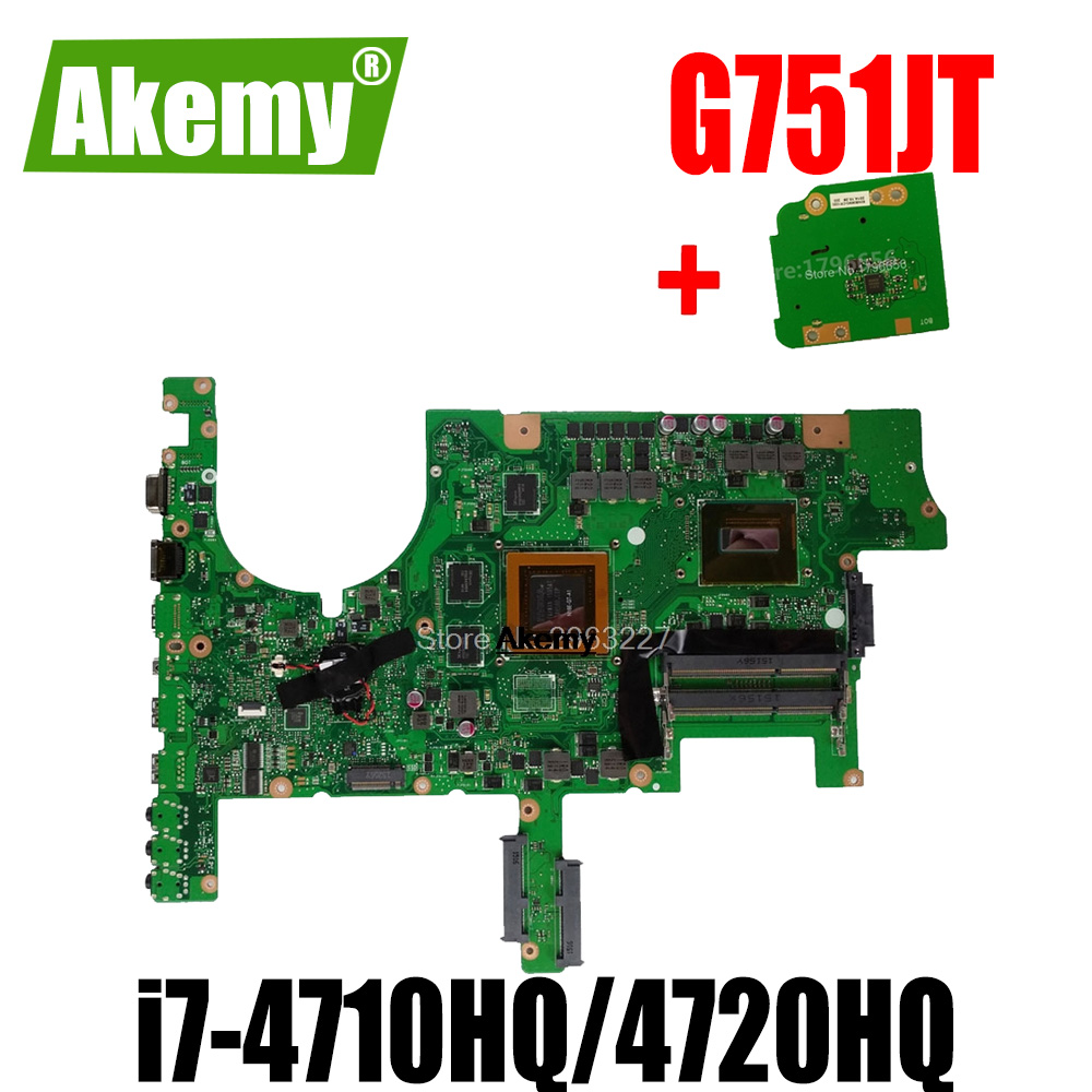 send board+G751JT <font><b>Motherboard</b></font> GTX970M 3GB i7-4710HQ/4720HQ For Asus <font><b>G751JY</b></font> G751J Laptop <font><b>motherboard</b></font> G751JT Mainboard image