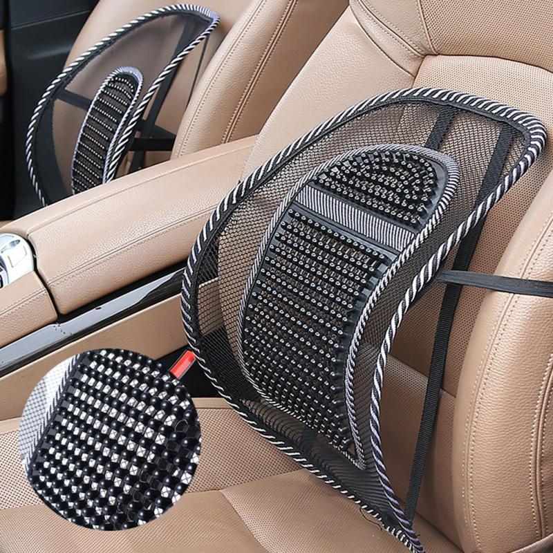 4 Colors Car Waist Back Summer Seat Breathable Lumbar Massage Lumbar Backrest Office Waist Cushion Car Interior Cushion Supplies