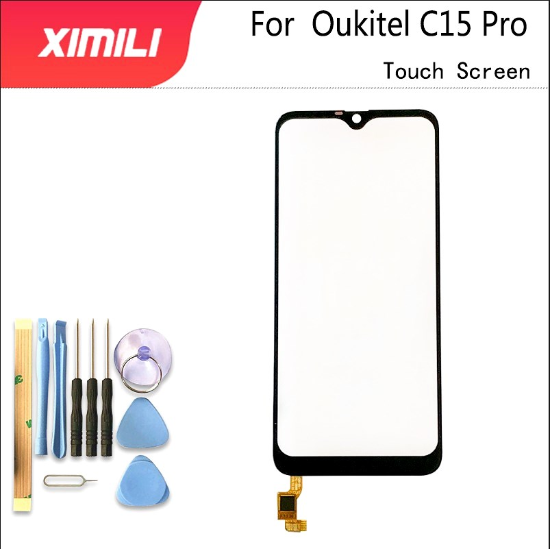 6.088''Touch Glass Panel For Oukitel C15 Pro Touch Screen Digitizer Sensor Front Outer Glass Lens Original Screen+ Tools