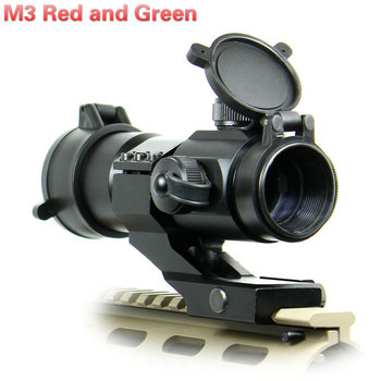 Tactical M3 red dot green view scope military optics scope Airsoft air gun hunting Rifle sight scope riflescope aimpoint