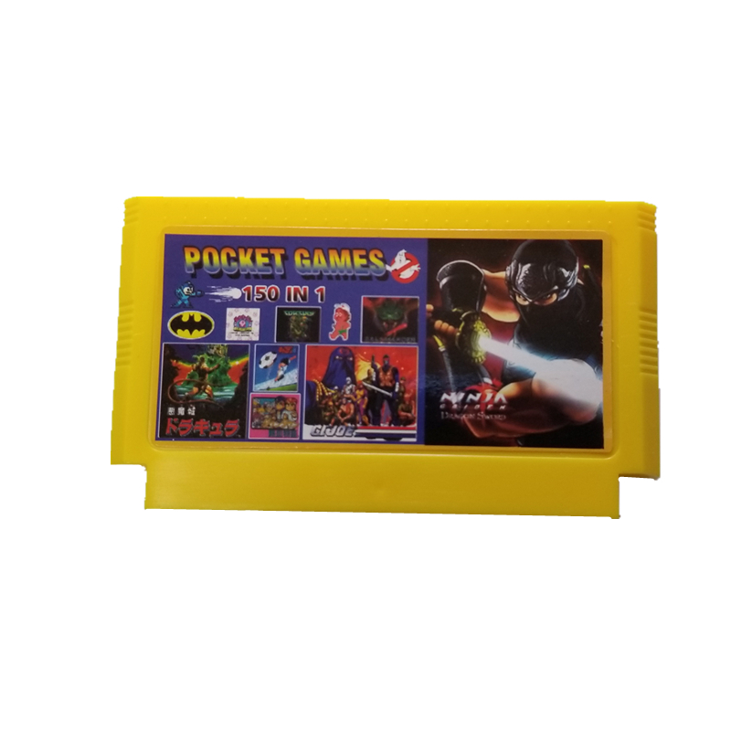 New Arrival 8 bit video game card for nintend family game console 60 pin <font><b>150</b></font> <font><b>in</b></font> <font><b>1</b></font> games cartridge image