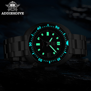 Image 4 - ADDIES Abalone Men NH35 Automatic Dive Watch 200M Waterproof Sapphire Crystal Stainless Steel  Mechanical Mens Watch