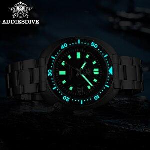 Image 4 - ADDIES Abalone erkekler NH35 otomatik dalış izle 200M su geçirmez safir kristal paslanmaz çelik mekanik erkek saati