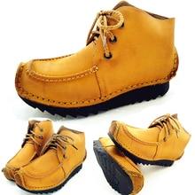 2019 Mens Winter Boots Shoes Young Men Vintage Footwear Genuine Leather Zapatillas Hombre 6#15/15D50