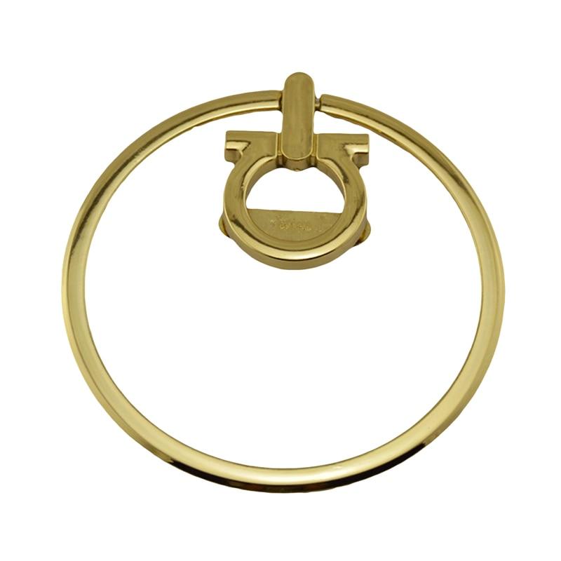 Women Bag Handle Metal Handle Fashion Ring Design Luggage Hardware Accessories For Handbag Shoulder Bag Parts