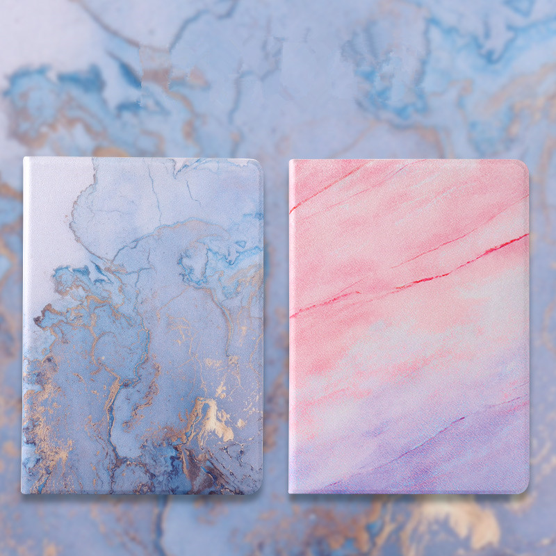 Smart Magnetic Leather Case 2020 Back PC PU for iPad 10.2inch 2019 Cover Marble Texture