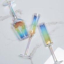 Хрустальные свадебные торжественные бокалы для шампанского стаканы красочные чашки для напитков вечерние свадебные украшения вина чашки для вечеринок