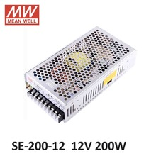 MEAN WELL SE-200 regulated Single Output Switching Power Supply 220V to 12V AC DC transformer 40A 14A 200W 5V 24V 48V 36V wholesale nzxt df1402512sedn 12v 1 68w 0 14a 140 140 25 14cm chassis power supply fan