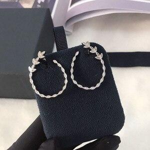 Image 3 - UMGODLY יוקרה אופנה נחושת סלול AAA מעוקב Zirconia אבנים עלים פרחוני עגילים לנשים דצמבר תכשיטים חדשים