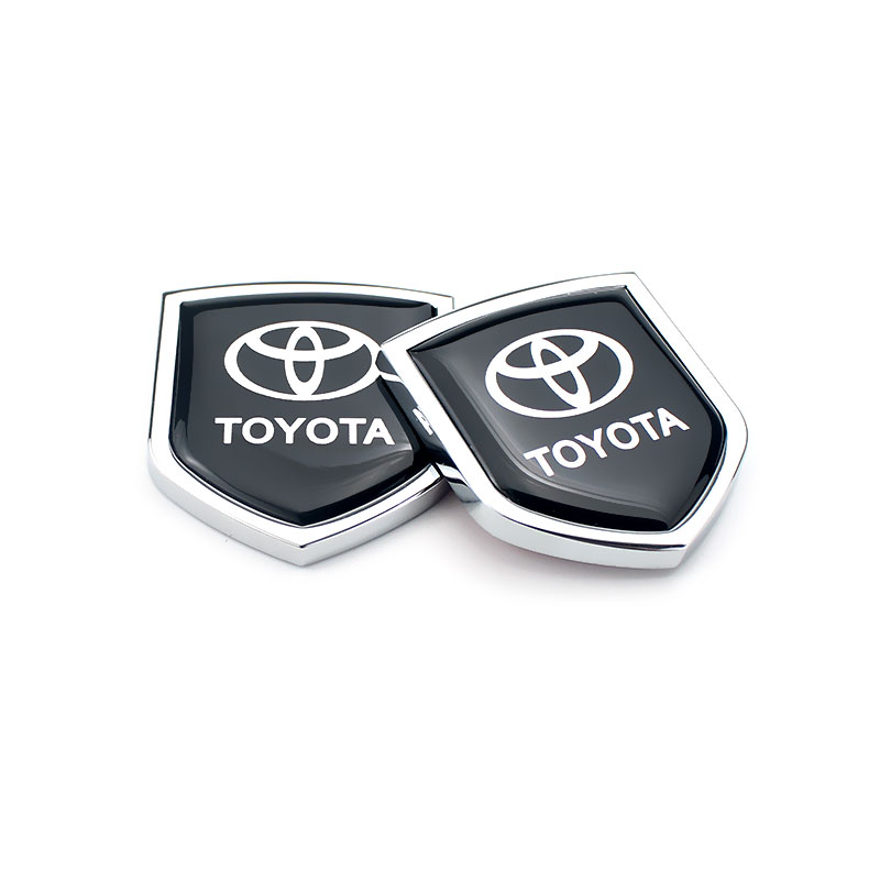 Car Side Sticker Metal Emblem Decal Exterior Accessories For Toyota TRD RAV4 Yaris Avensis Auris Prius Corolla Camry Bdage