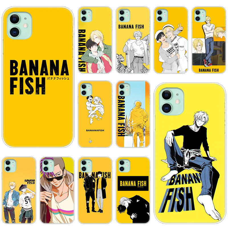 Hot Banana Fish Anime Soft Silicone Transparent Case for Apple iPhone 11 Pro XS Max X XR 6 6s 7 8 Plus 5 5s SE Fashion Cover