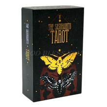 The Sasuraibito Tarot 78 Cards Deck and Guidebook Gilt Edge Card Family Party Board Game Oracle Card Divination Fate