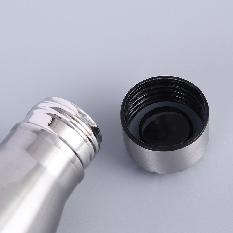 Stainless Cola Motion Sport Water Bottle Rugged Water Cup Monolayer No Heat Preservation Metal Color Cola