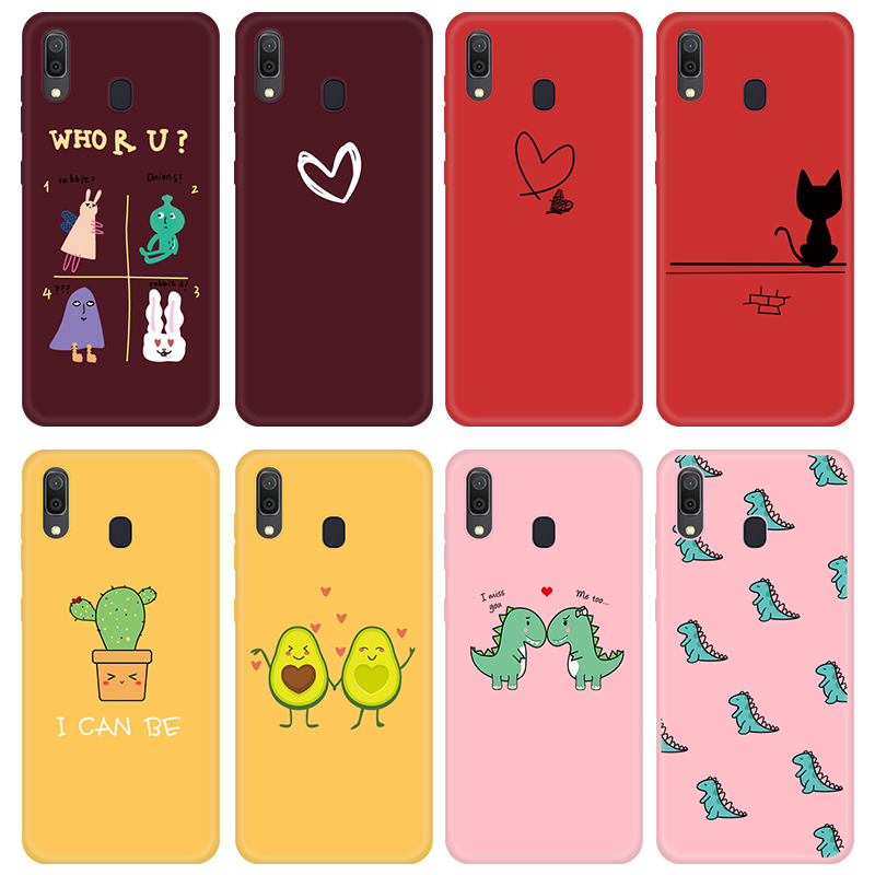 Lovely Cartoon Silicone Phone <font><b>Case</b></font> For <font><b>Samsung</b></font> Galaxy A70 A50 A30 A20 A40 A60 <font><b>A10</b></font> Cover Candy Color Soft TPU Mobile Phone Bags image