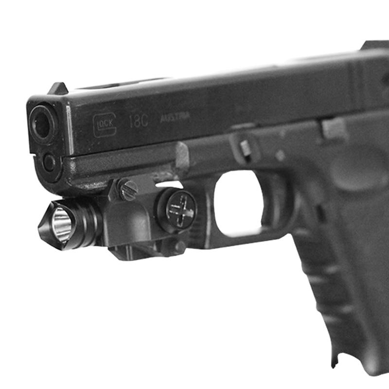 Subcompact Pistol Handgun Airsoft Gun Light Mini 80 Lumen Tactical Glock 17 18 19 Gun Weapon Flashlight For Hunting