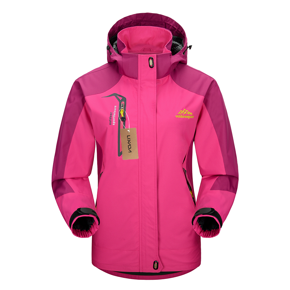 Waterproof Jacket Sportswear Raincoat Lixada Outdoor Women Hooded-Coat Traveling Climbing title=