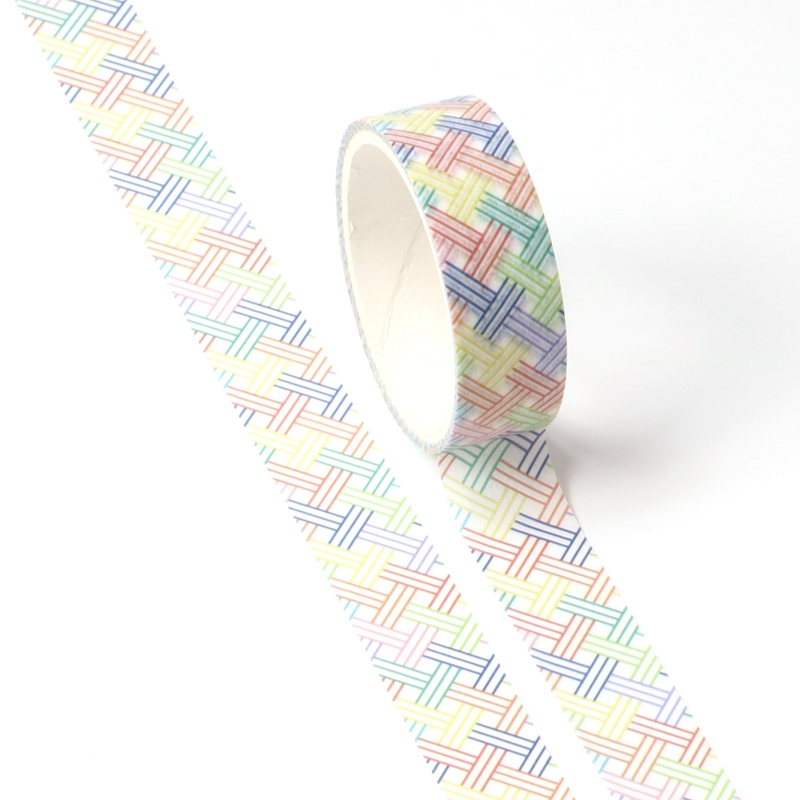 NEW 1X Cute Colorful Belt Washi Tape For DIY Planner Scrapbooking Decorative Masking Tape School Office Supplies