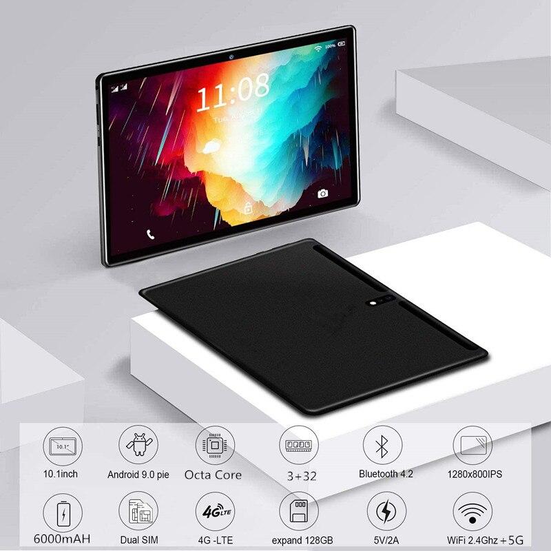 LZWIN 10.1 Inch Android 9.0 Tablet Pc Octa Core 3GB+64GB ( 32GB +64GB Card ) 4G LteTab Phone GPS Bluetooth TabletS 2.4G+5G WIFI