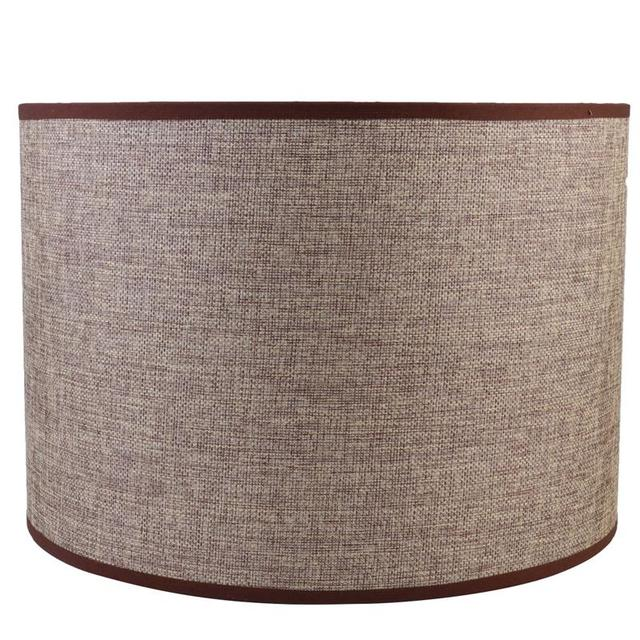 Cloth Lampshade Linen Cylindrical Practical Floor Desk Lampshade Lamp Shell Cover Lampshade for Home Office