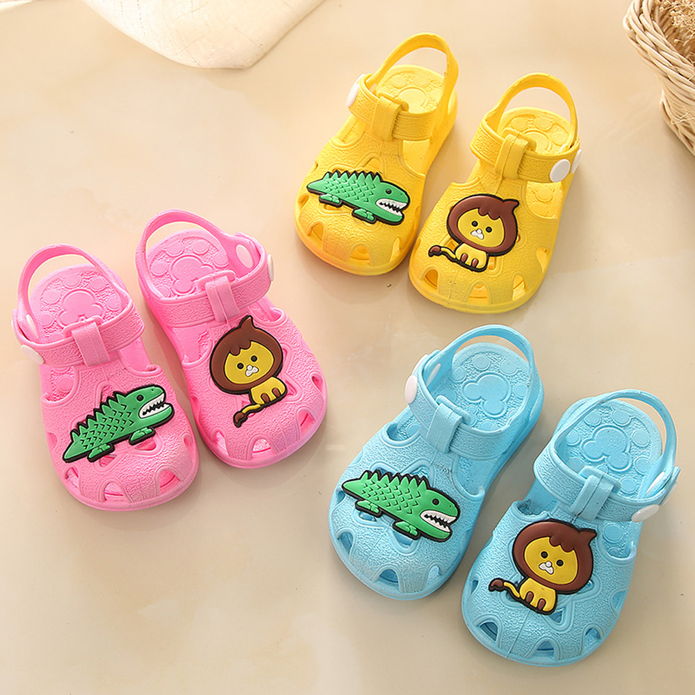 Baby Boys Girls Non-Slip Sandals Kids Toddlers Animals Cartoon Flat Shoes Newborn Summer Prewalker