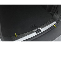 Car Body Stainless Steel Inner Inside Rear Trunk Bumper Trim Plate Lamp Frame Threshold Pedal 1pcs For Ford Kuga 2017 2018 2019