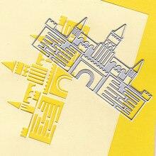 Building Castle Metal Cutting Dies Stencil Scrapbooking Photo Album Card Paper Embossing Craft DIY