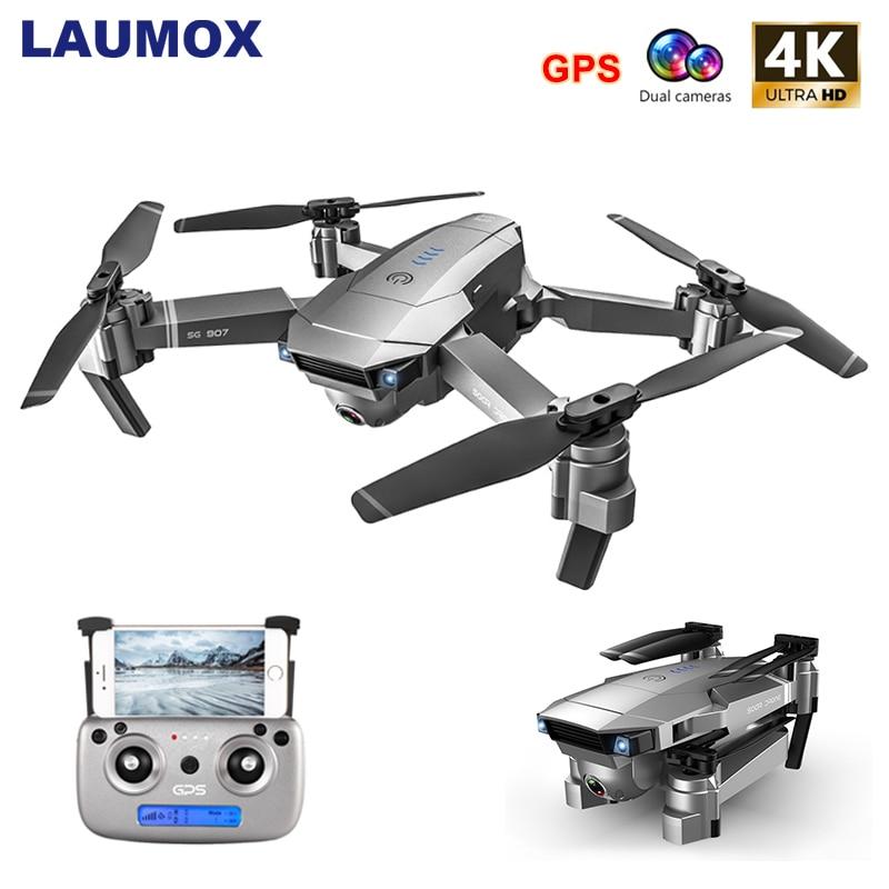 Drone GPS LAUMOX SG907 avec caméra de réglage 4K HD grand Angle 5G WIFI FPV RC quadrirotor professionnel pliable Drones E520S E58