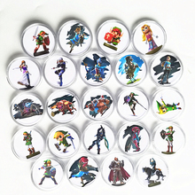 New Data Full Set 24Pcs The Legend of Zelda Collection Coin Card NFC Tag For Amiibo Card Ntag215 NS Switch WiiU Links Awakening