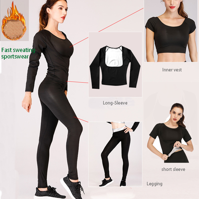 Hot Sale Black Slim High Waist Tight-Fitting Sweat Suit Croset Sports Top Quickly Sweat Fitness Running Clothes Gym Wear