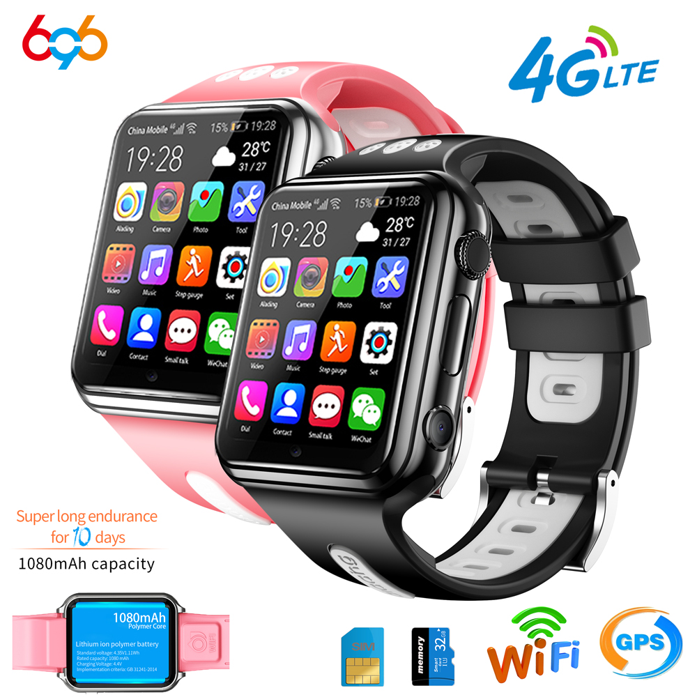696 H1 W5 4G GPS Wifi location Student Kids Smart Watch Phone android system clock app install Bluetooth Smartwatch 4G SIM Card