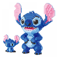 2300Pcs+ Mini Bricks Toys Stitch Blocks Diamond Building Block Mini Figure Cute 3D Model Lilo & Stitch for Children