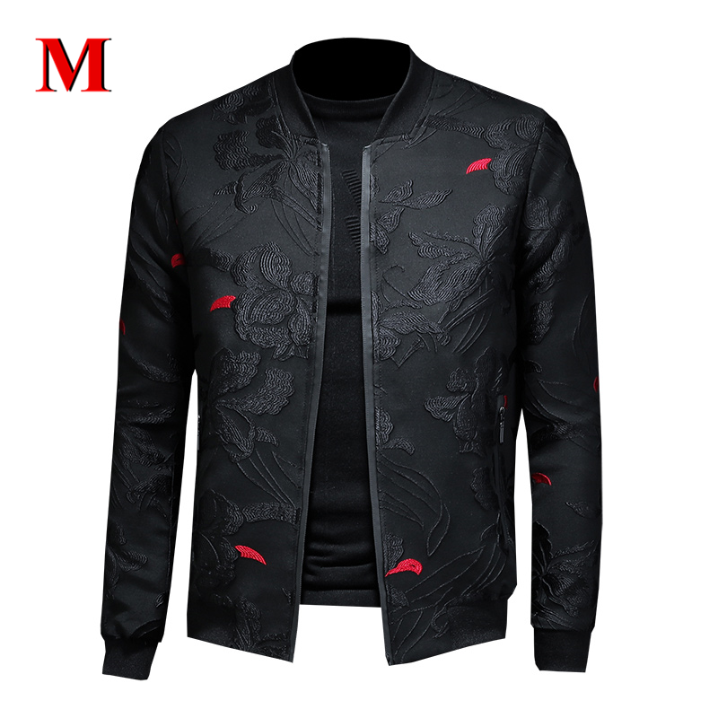 MENNE 2020 New Men Jacket Embroidery Jacket Men Zipper Coat