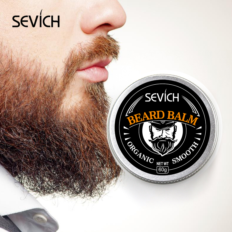 Sevich Men Organic Beard Balm Moustache Wax Styling Beeswax Moisturizing Smoothing Gentlemen Beard Care Natural Beard